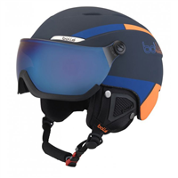 Фото - Шлем г/л BOLLE B-YOND VISOR Navy & Orange with Grey Blue visor Cat 3 разм. 58-61